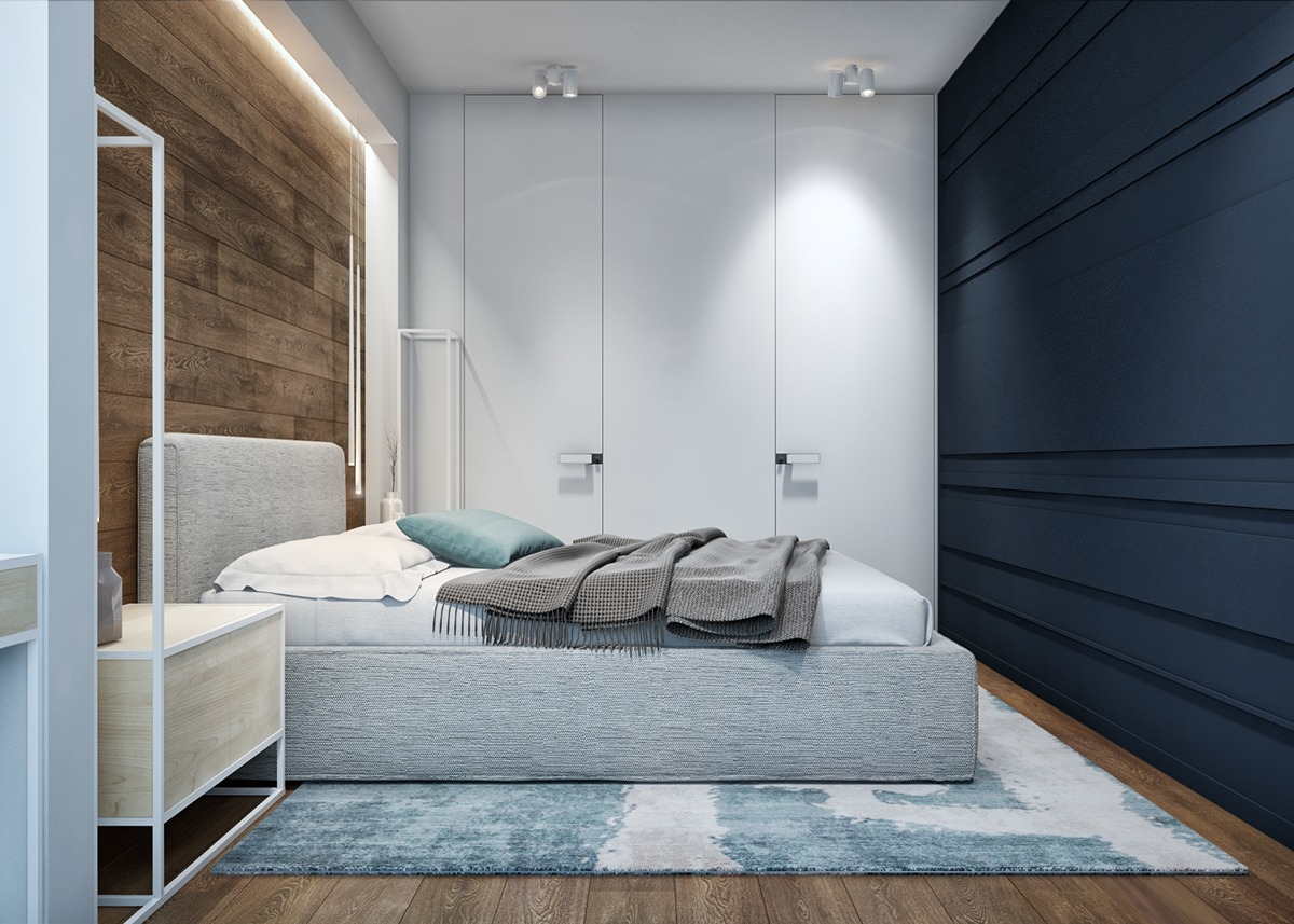 Blue And Grey - 2 luxury apartment designs for young couples