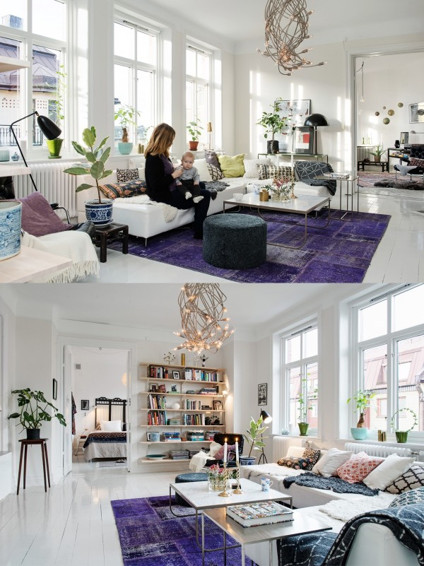 Home Design Ideas and Tips: bright purple area rug