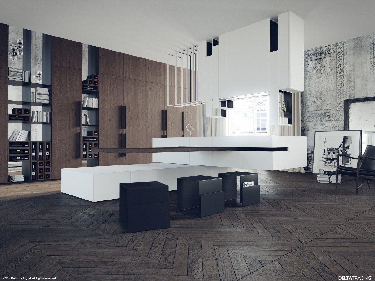 Modern White And Black Kitchens black, white & wood kitchens: ideas & inspiration