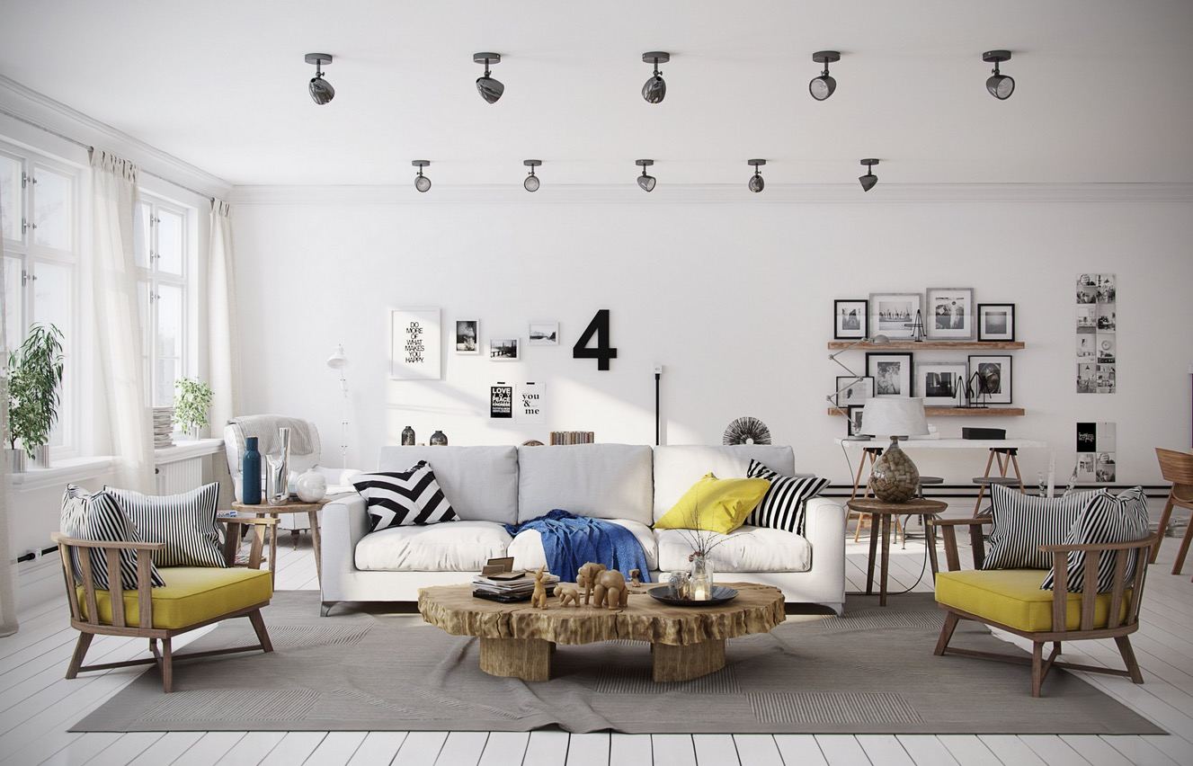 Scandinavian living room design ideas inspiration for Interior design living room yellow
