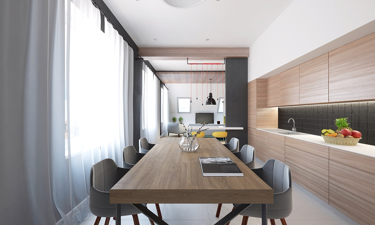 cool wood dining table interior design ideas