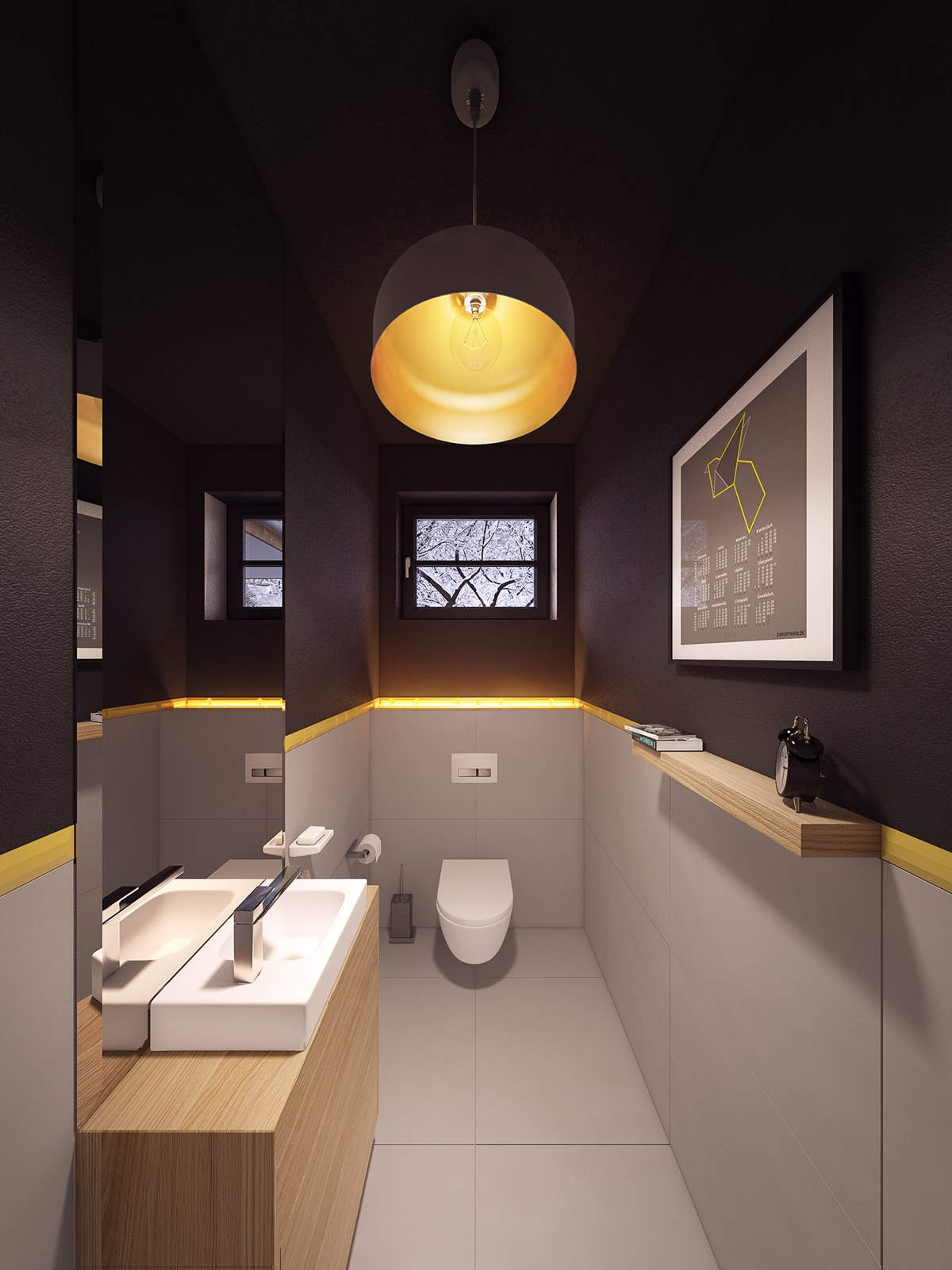 Creative Bathroom Lighting Interior Design Ideas