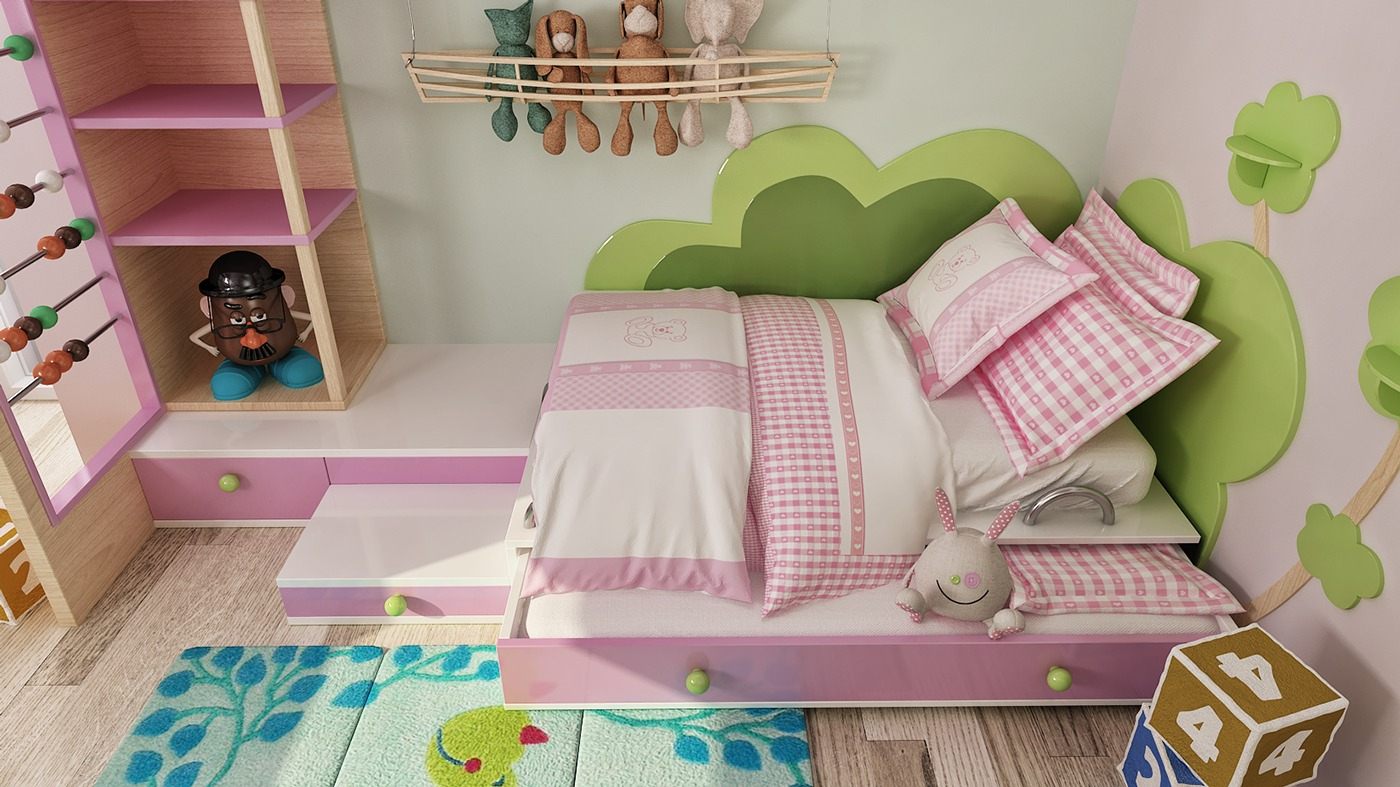 Cute Kids Bed - 2 luxury apartment designs for young couples