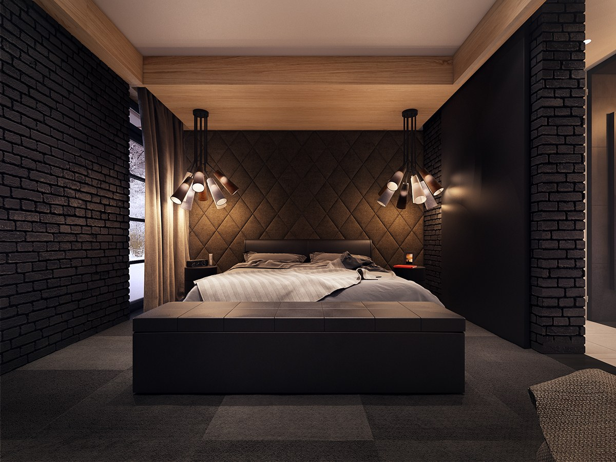 Dark bedroom design interior design ideas for Bedroom ideas dark wood