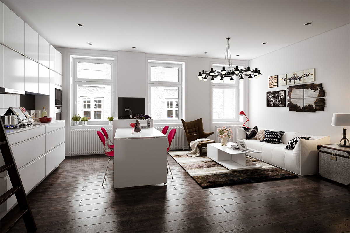 Scandinavian living room design ideas inspiration Wood flooring ideas for living room