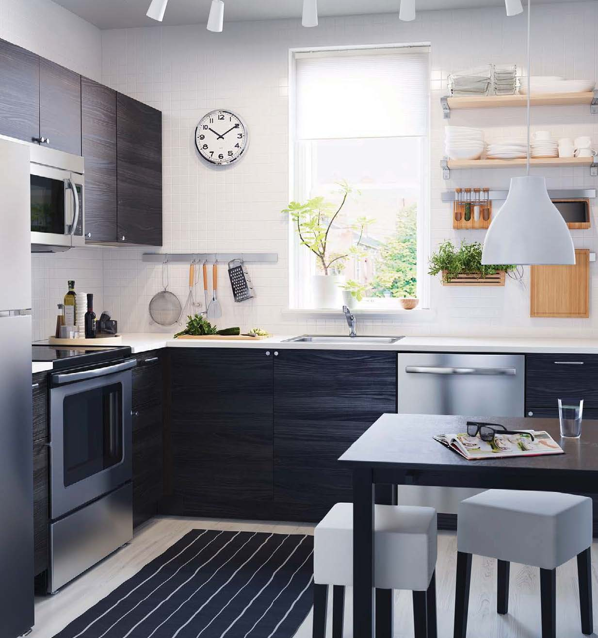 Ikea 2016 catalog for Dark wood kitchen units