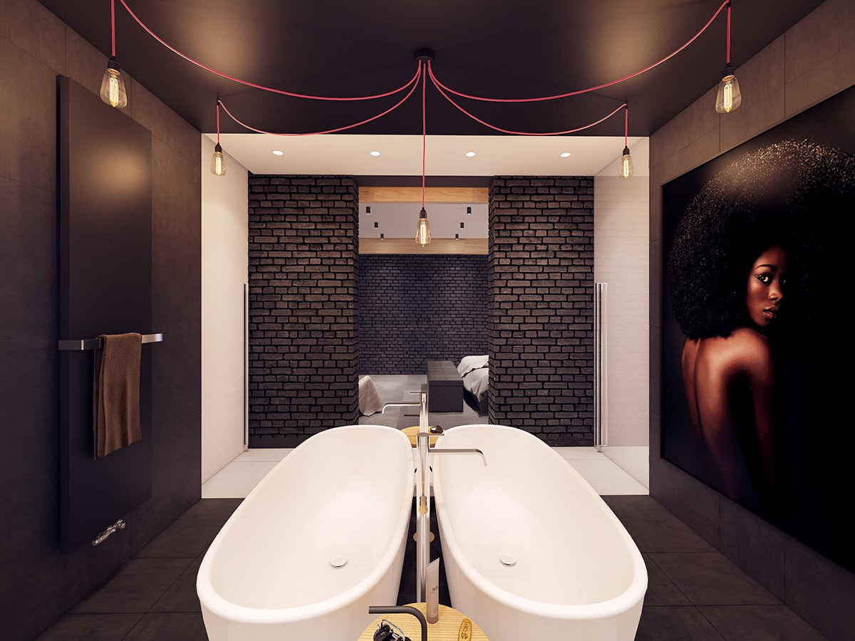 Double Tub Design - A seductive home with lush colors and double baths