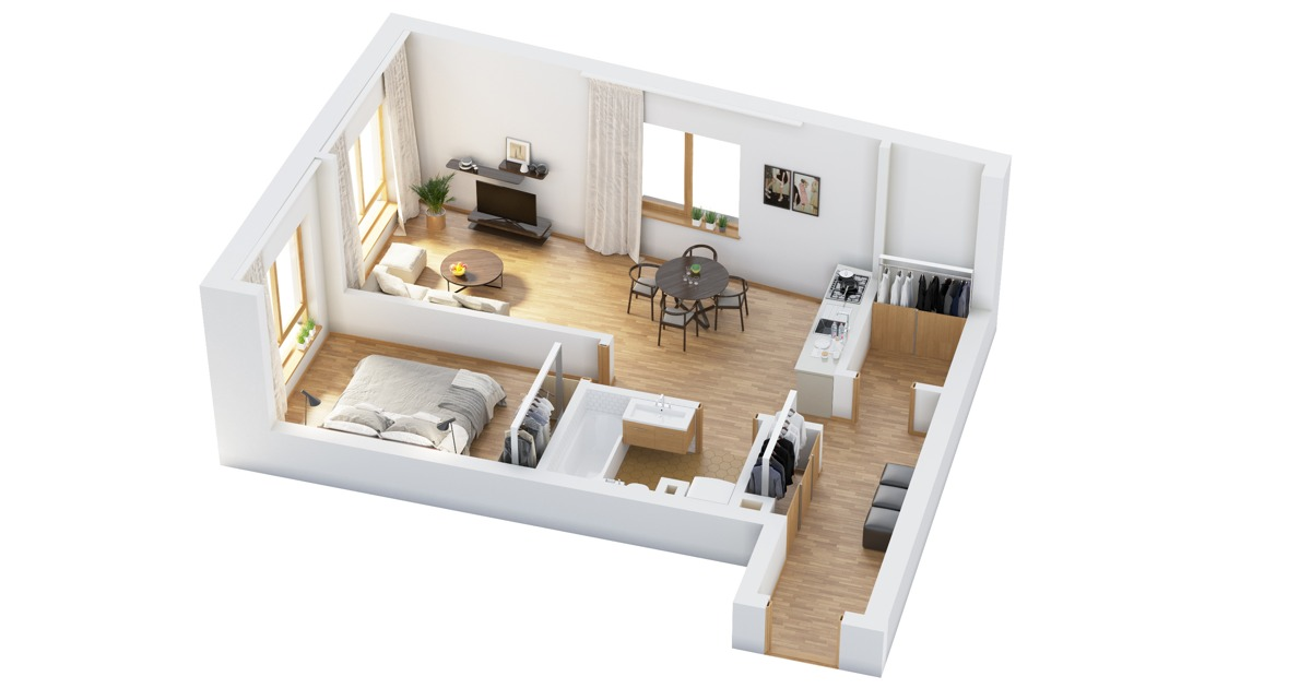 Apartment Room Plan 40 more 1 bedroom home floor plans