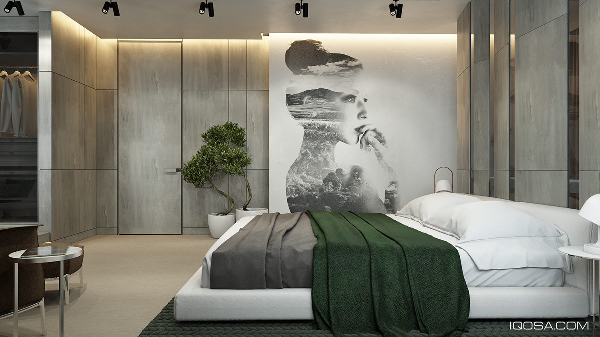 Moscow house uses texture to create interest - Green Duvet Interior Design Ideas