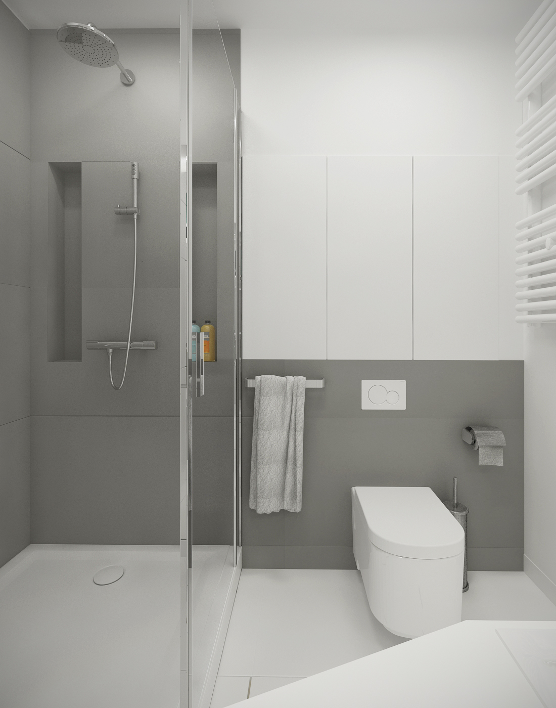 Bathroom Design Grey And White Grey And White