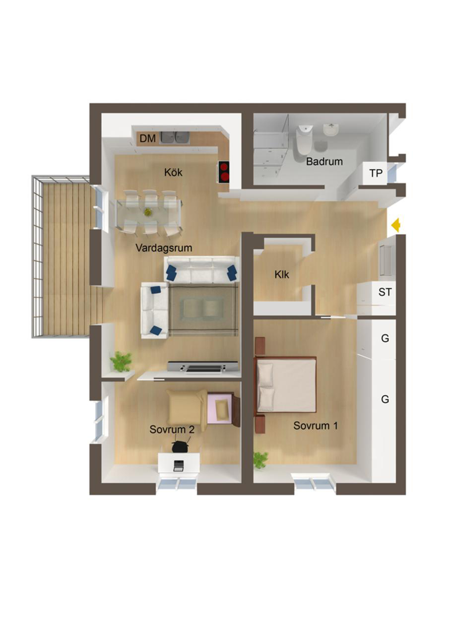 . 40 More 2 Bedroom Home Floor Plans