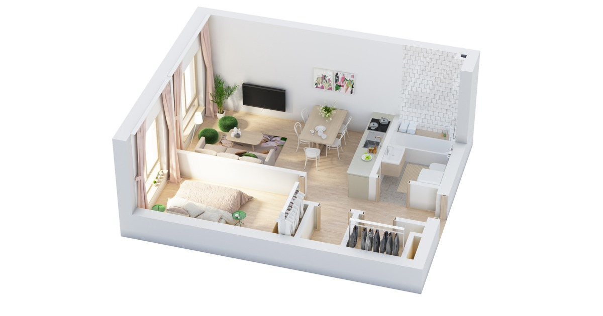 Superb 40 More 1 Bedroom Home Floor Plans Largest Home Design Picture Inspirations Pitcheantrous