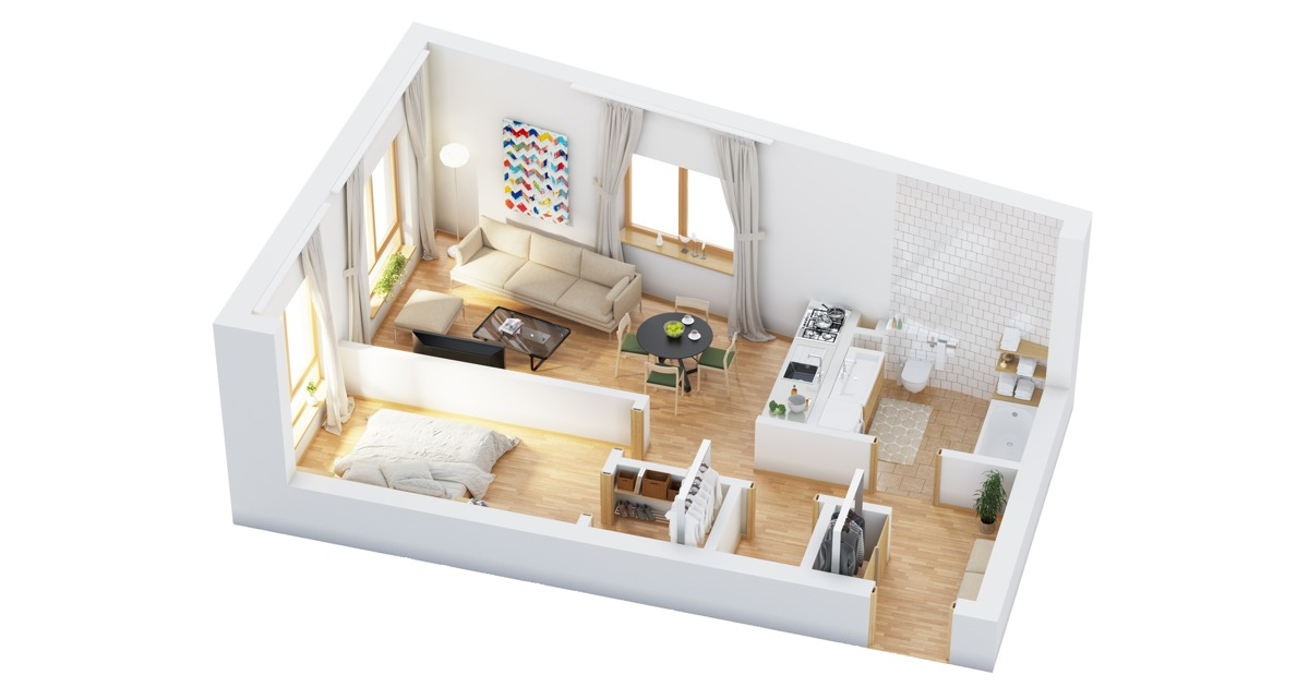 Home Layout - 40 more 1 bedroom home floor plans