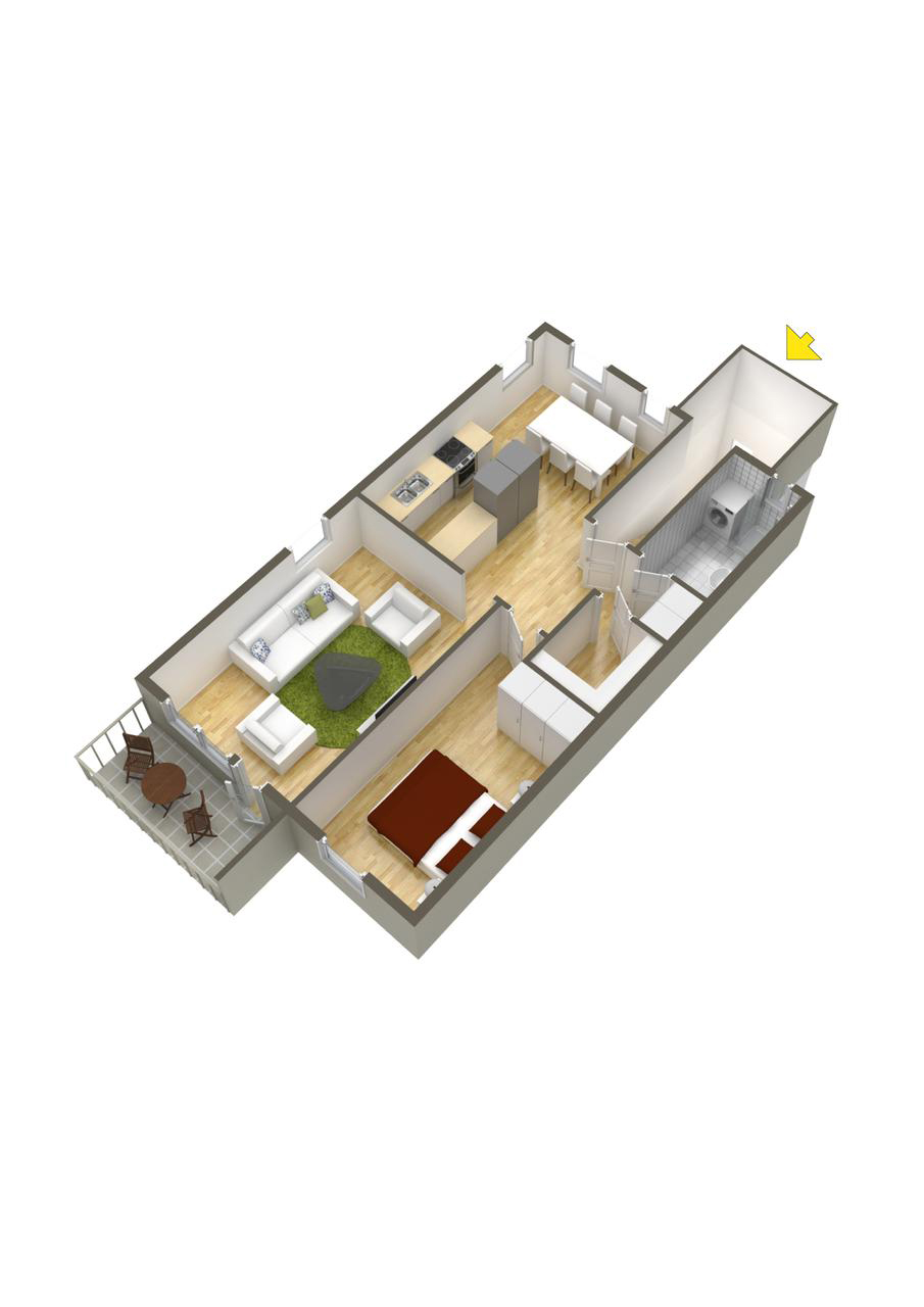 How To Layout A One Bedroom - 40 more 1 bedroom home floor plans