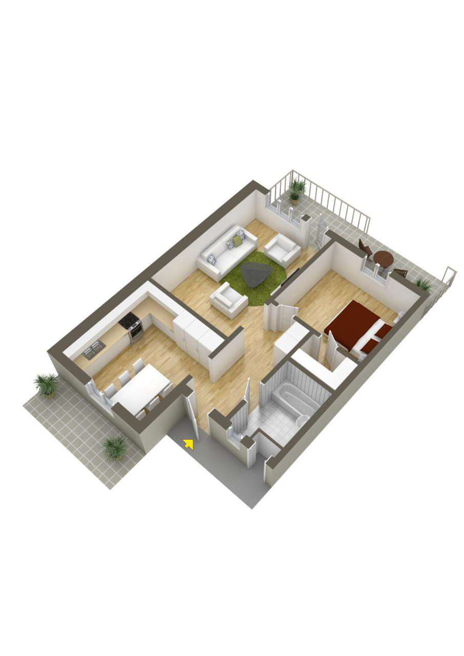 Layout Ideas For One Bedroom - 40 more 1 bedroom home floor plans