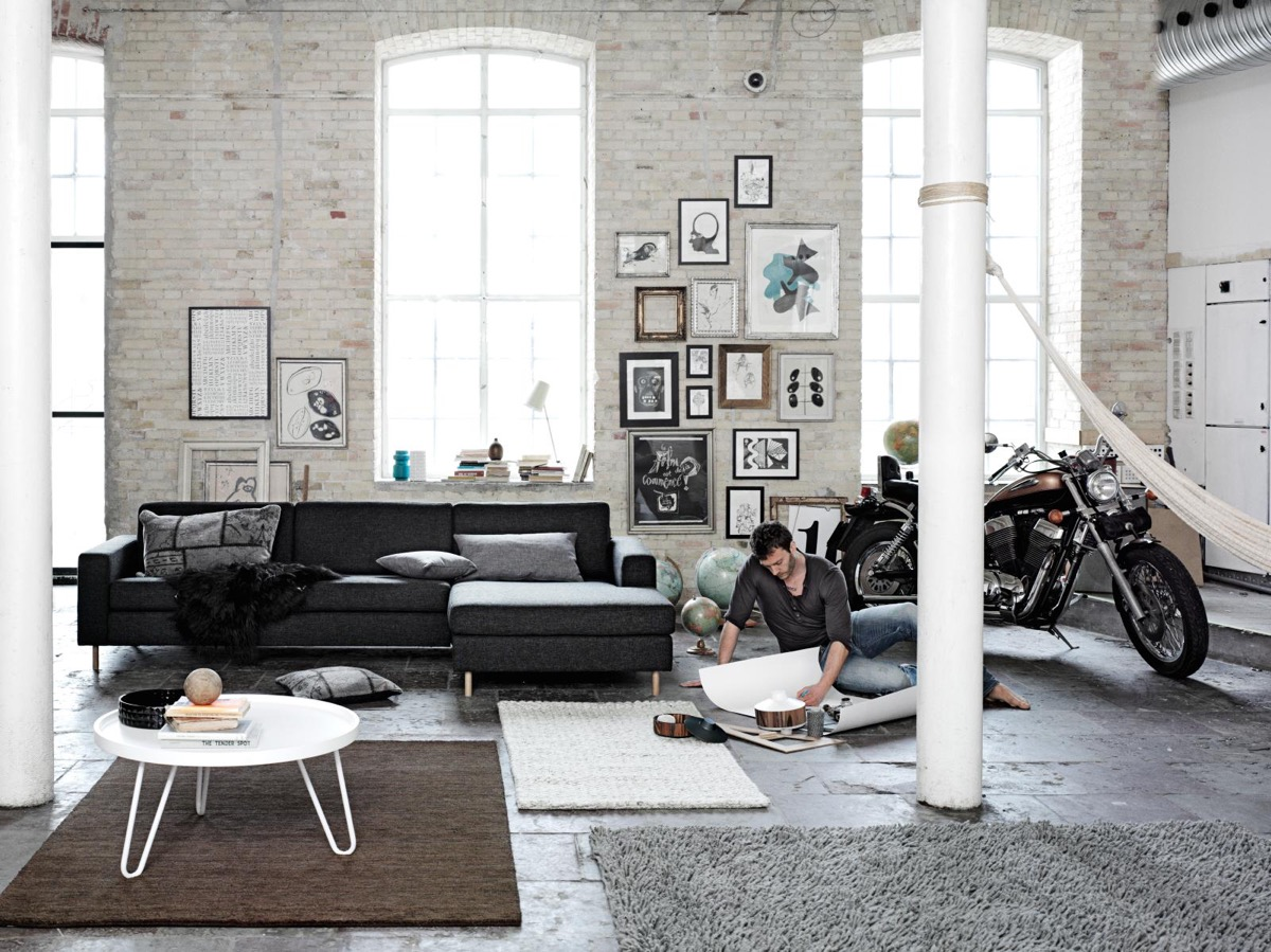 Scandinavian living room design ideas inspiration for Interior design inspiration industrial