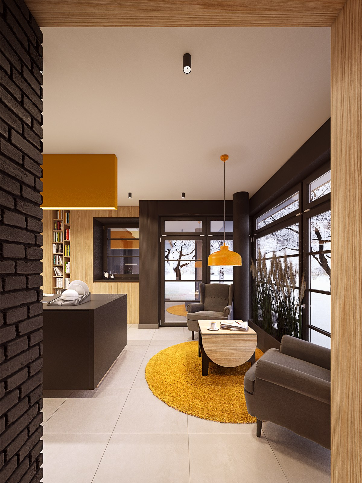 A seductive home with lush colors and double baths