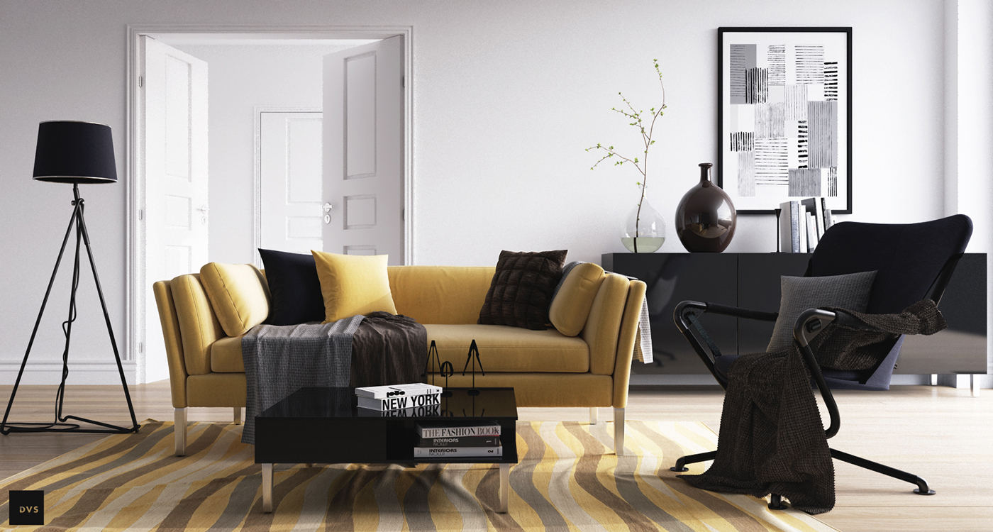 Scandinavian living room design ideas inspiration for Mustard living room ideas