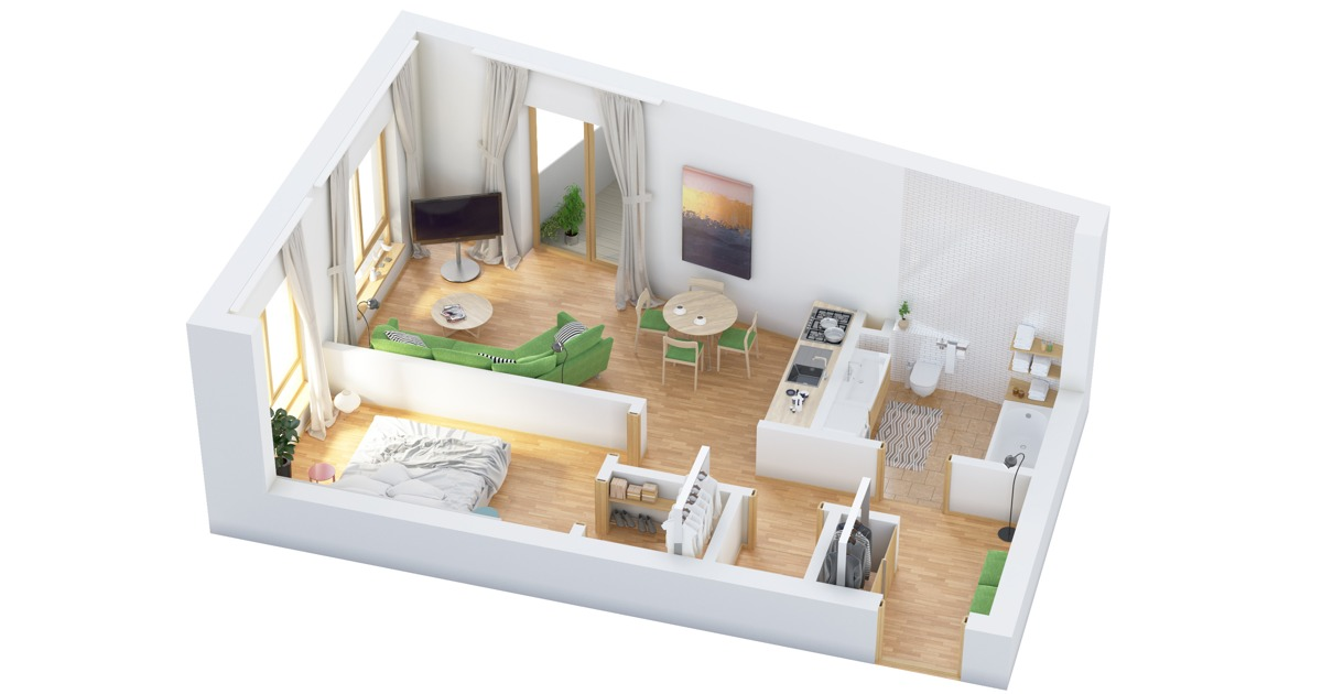 More Bedroom Home Floor Plans - One 1 bedroom floor plans and houses