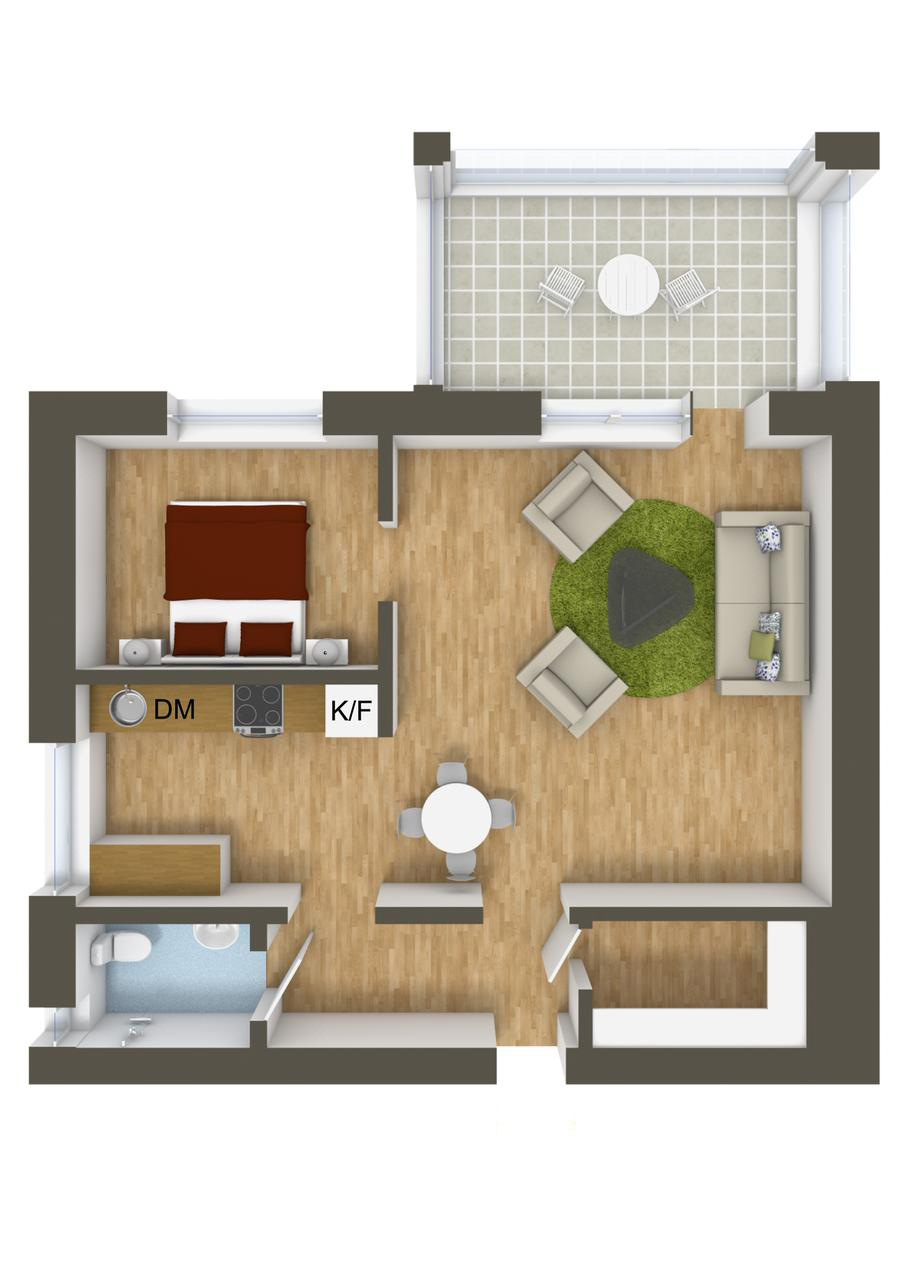 Good Bedroom Ideas Plans 40 More 1 Bedroom Home Floor Plans