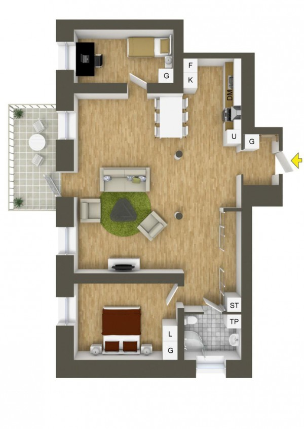 Separate rooms and separate lives are the key to happy roommates in a place like this.