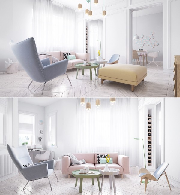 Scandinavian living room design ideas inspiration for Living room ideas pastel