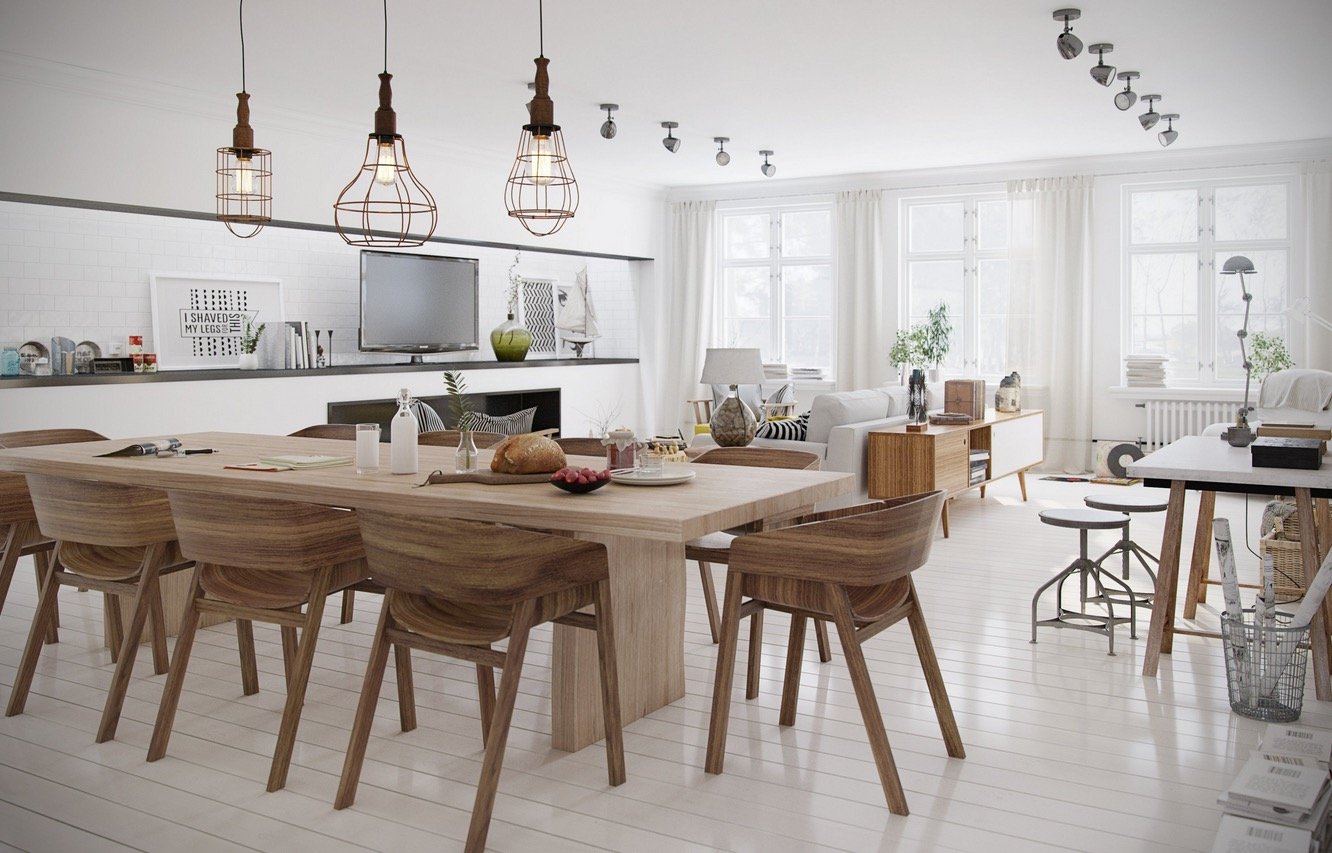 scandinavian dining room design ideas inspiration - Lighting Dining Room Table