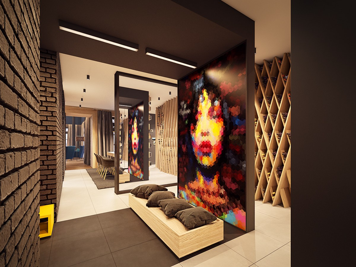 Pretty Modern Art - A seductive home with lush colors and double baths