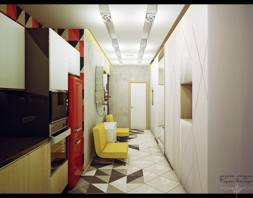 Red Fridge - 4 studios under 50 square meters that use playful patterns to good effect