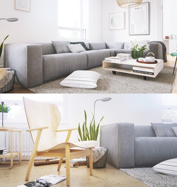 Home Design Ideas and Tips: scandinavian living room