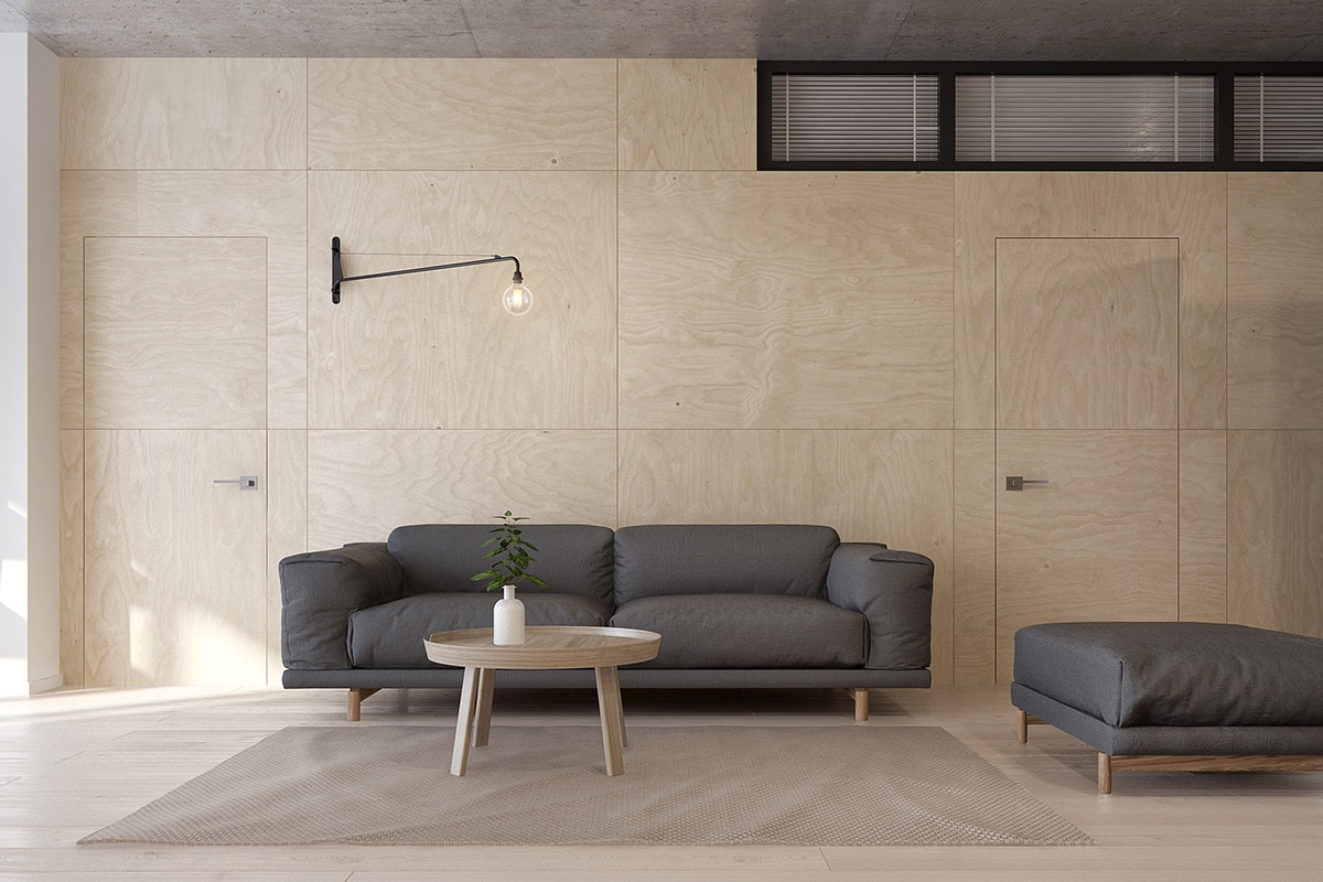 Minimalist apartment for a family of four - Simple design of wall ...
