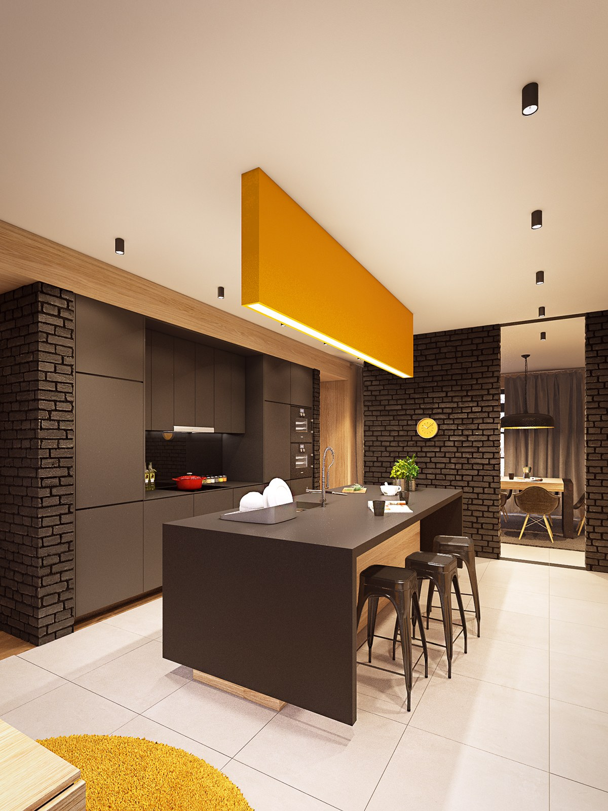 Slick Kitchen - A seductive home with lush colors and double baths
