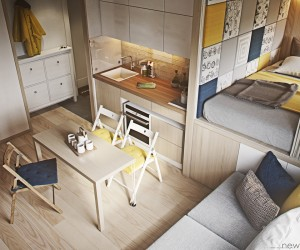 Designing for small spaces 3 beautiful micro lofts - Interior design for small space house plan ...