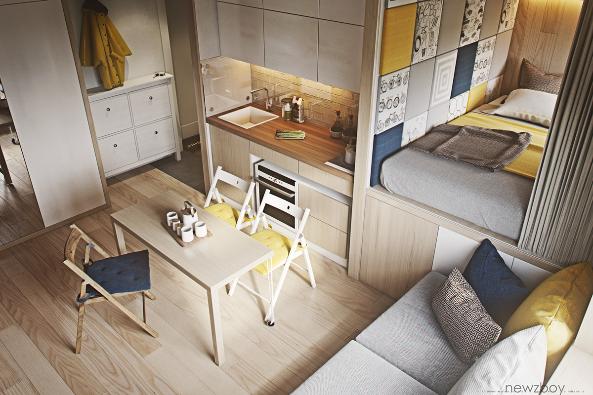 ultra tiny home design 4 interiors under 40 square meters - Small Home Designs