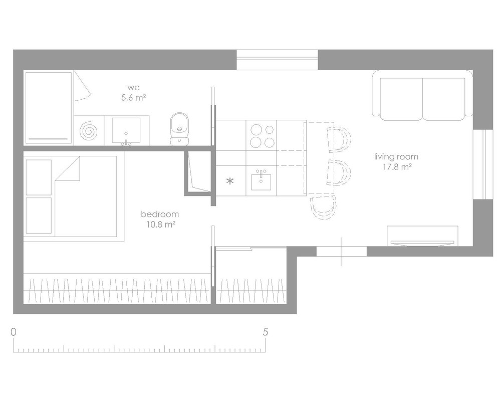 Small house layout interior design ideas for Small apartment layout ideas