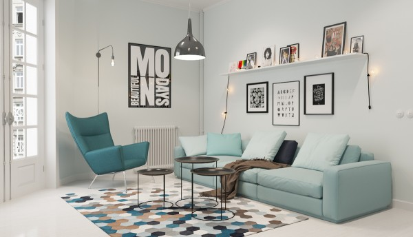 Home Design Ideas and Tips: small mint sofa