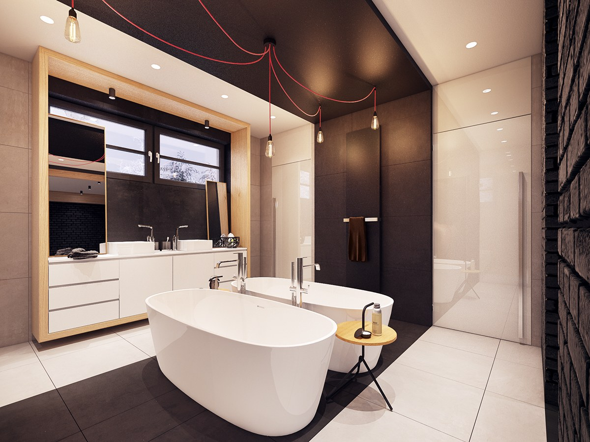 Soaking Tubs - A seductive home with lush colors and double baths