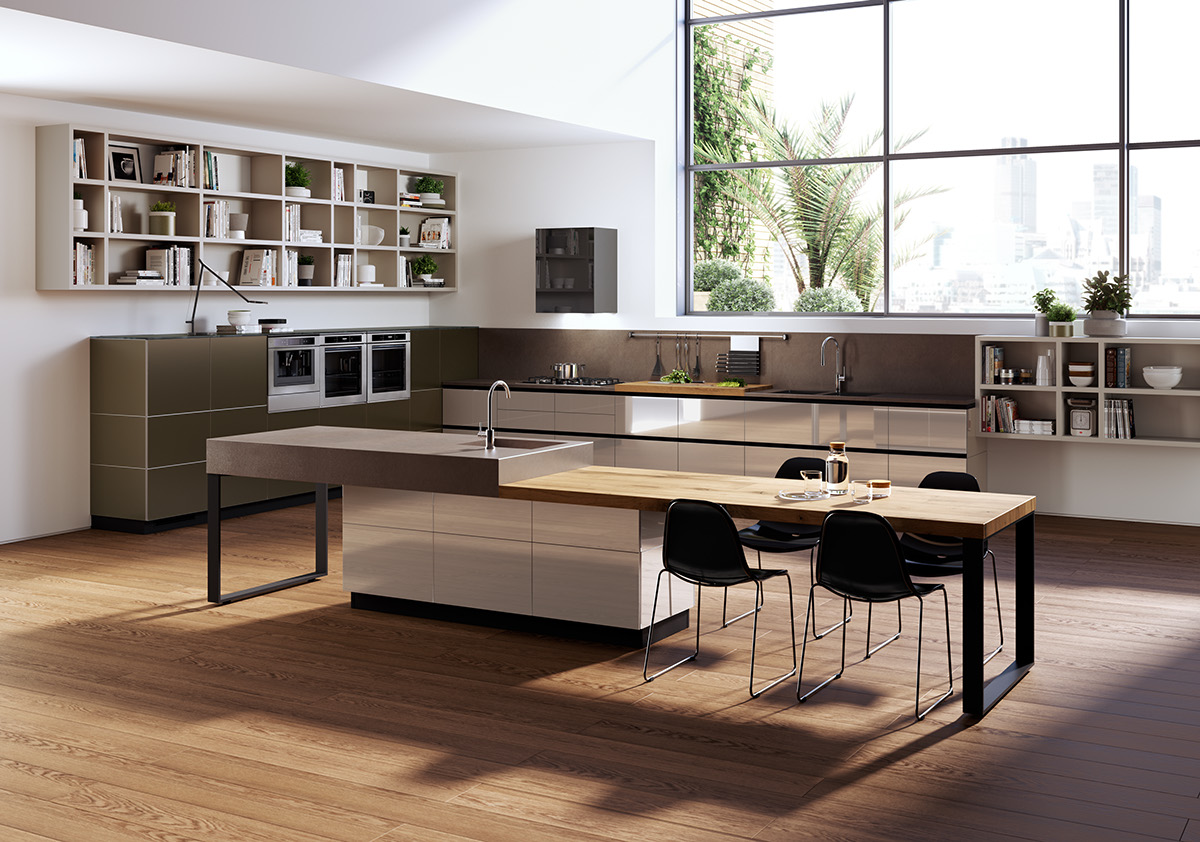 Home Design Inspiration black, white & wood kitchens: ideas & inspiration