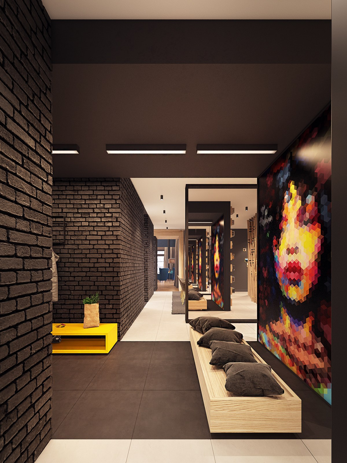 Sweet Modern Seating - A seductive home with lush colors and double baths