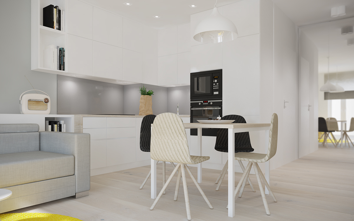 4 small beautiful apartments under 50 square meters for Beautiful flats interior