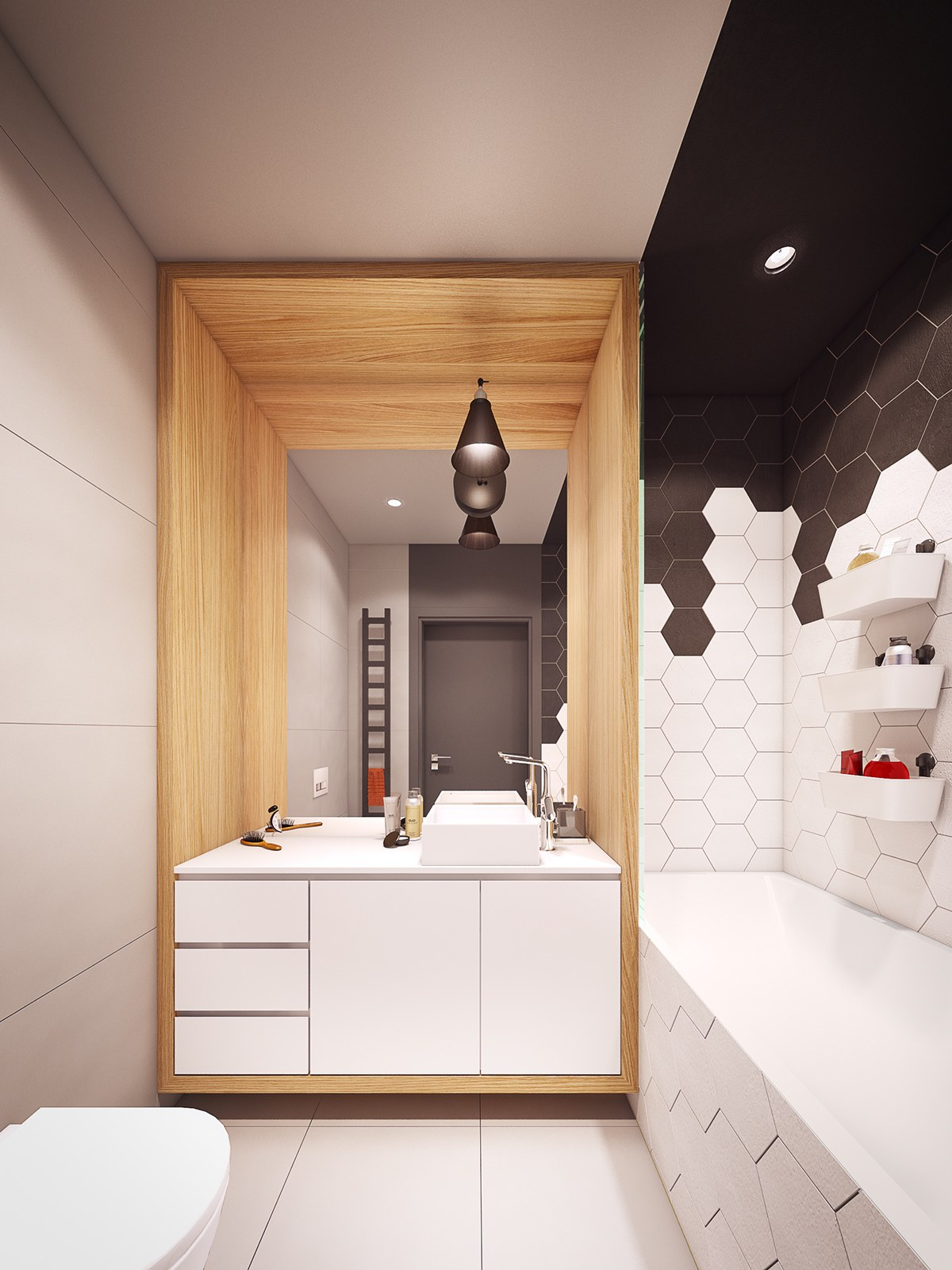 White Bath - A seductive home with lush colors and double baths