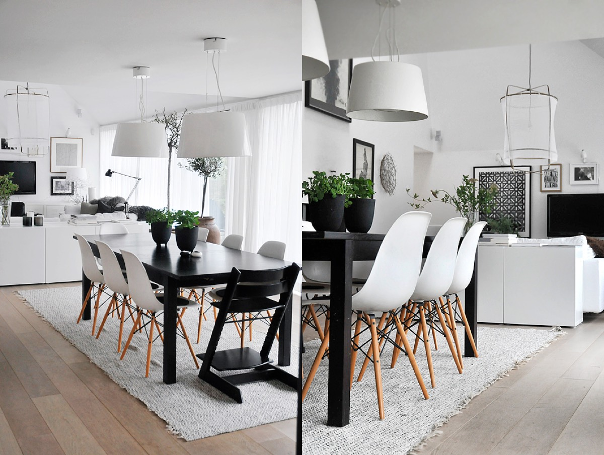 Scandinavian dining room design ideas inspiration for Table et chaise blanche