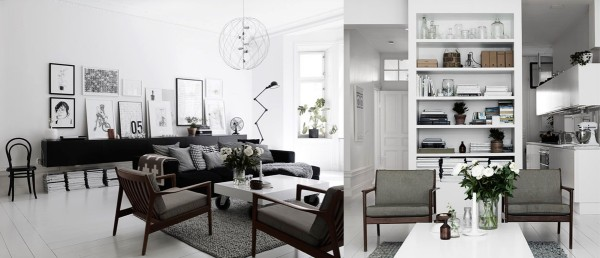 Home Design Ideas and Tips: white gray wood