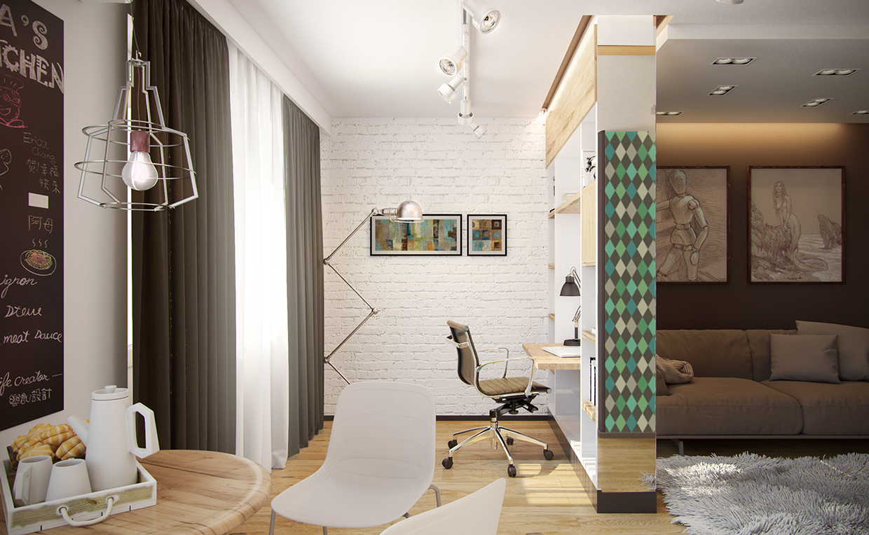 White Painted Brick - 4 studios under 50 square meters that use playful patterns to good effect