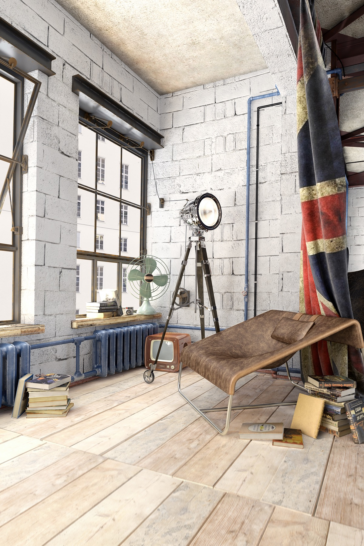 White Painted Walls - 2 loft ideas for the creative artist