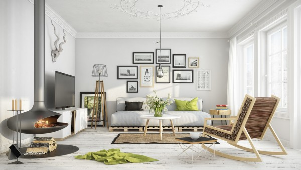 Home Design Ideas and Tips: white washed floors