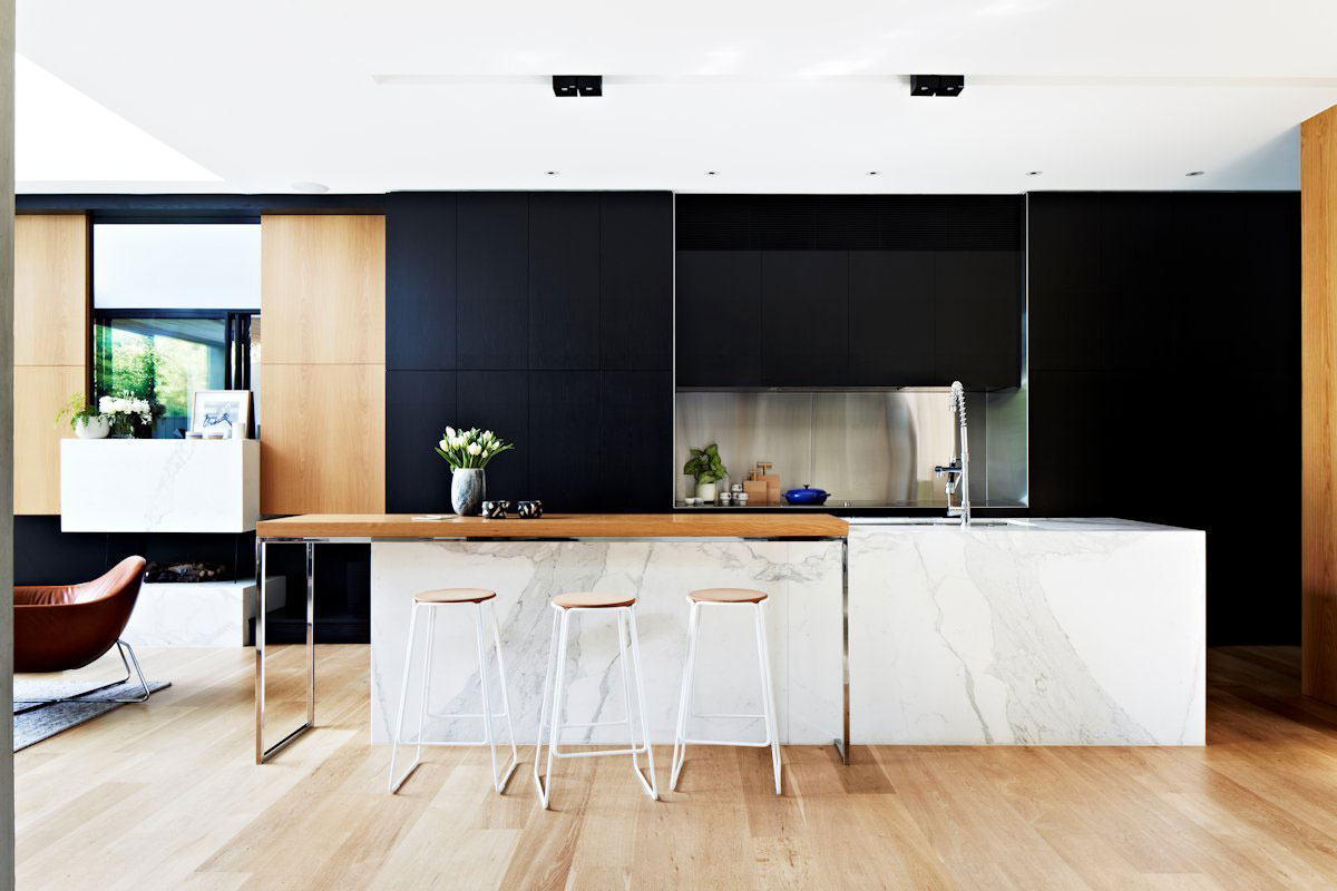 Modern White Wood Kitchen Black White & Wood Kitchens Ideas & Inspiration