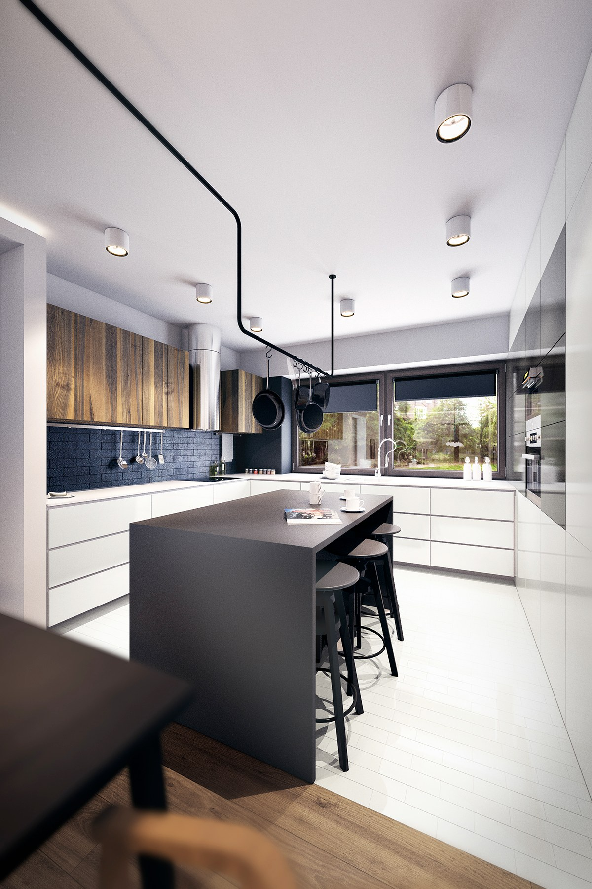 Black White & Wood Kitchens Ideas & Inspiration