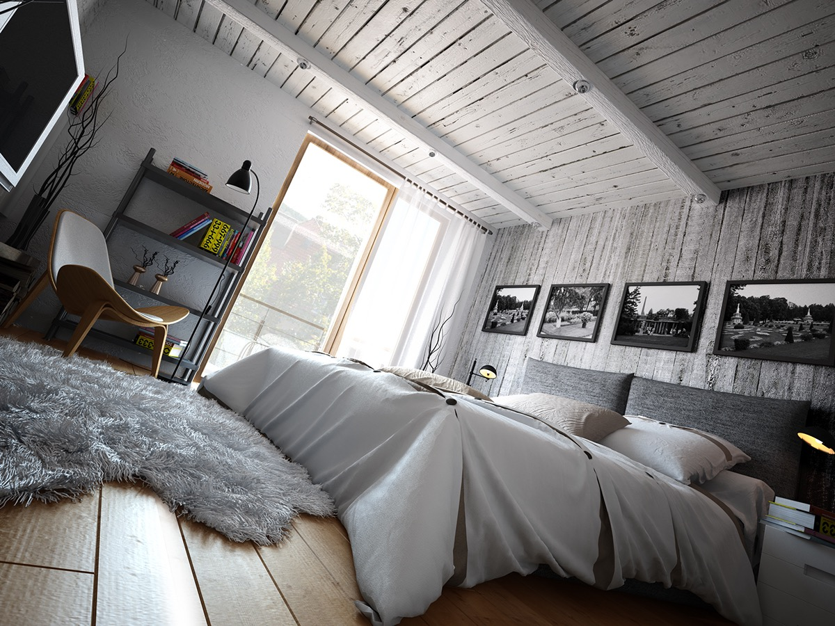 Whitepainted Ceiling - 2 loft ideas for the creative artist
