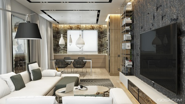 Moscow house uses texture to create interest - A Moscow House Uses Texture To Create Interest Advance